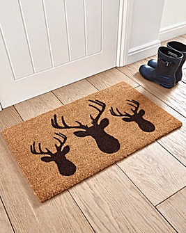 Stags Head Coir Door Mat