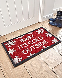 Baby Its Cold Outside Coir Door Mat