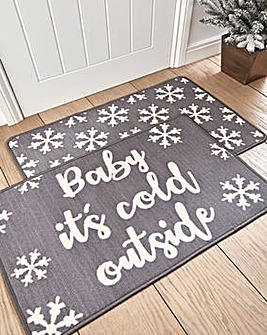 Its Cold Outside Pk 2 Door Mats