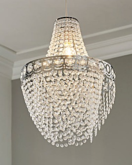 Clear Easy Fit Chandelier Shade