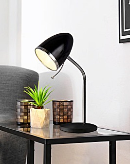 Black & Chrome Desk Lamp