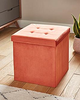 Paprika Velvet Storage Cube