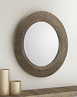 Leon Small Round Wall Mirror
