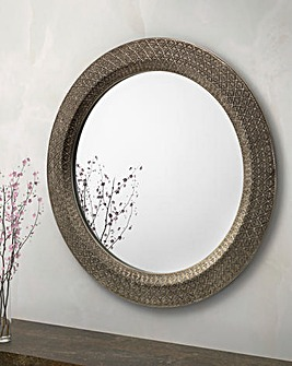 Leon Large Round Wall Mirror