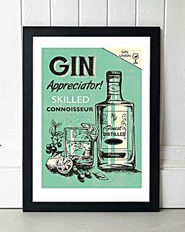 Gin Framed Wall Art