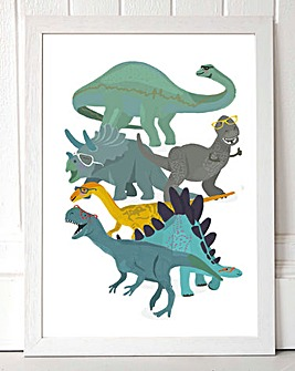Dino Glasses Wall Art
