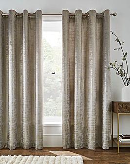 Foil On Velvet Eyelet Lined Curtains