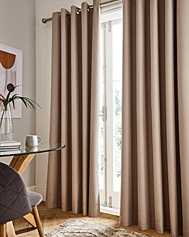 Sunset Black Out Eyelet Curtains