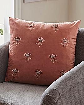 Embellished Flower Cushion
