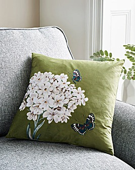 Butterfly with Flower Cushion