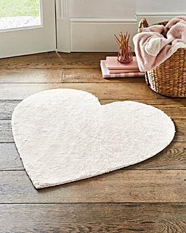 Heart Faux Fur Rug