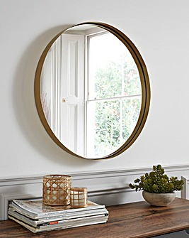Small Metal Circular Mirror