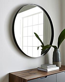 Large Metal Circular Mirror