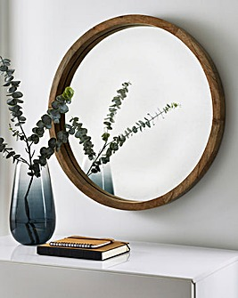 Light Wooden Frame Mirror