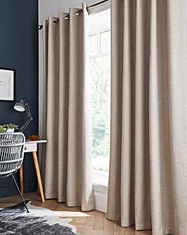 Herringbone Tweed Blackout Eyelet Curtains