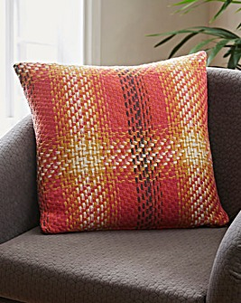 Woven Check Cushion
