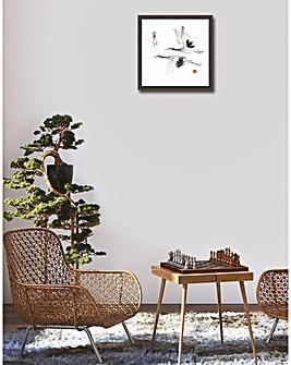 Zen Crane Framed Print