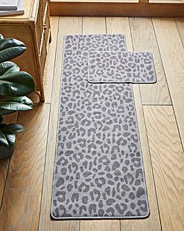 Leopard Print Runner & Door Mat
