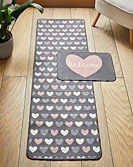 Hearts Runner & Door Mat