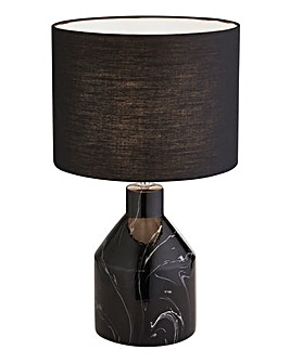 Black Marble Finish Table Lamp