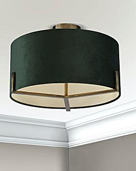 2LT Gold and Green Velvet Ceiling