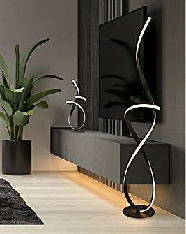 Black Ribbon LED Table Lamp