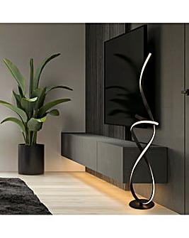 Black Ribbon LED Floor Lamp