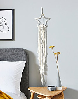 Macrame Star Dream Catcher Wall Light with LED