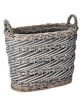 Split Willow Oval Basket