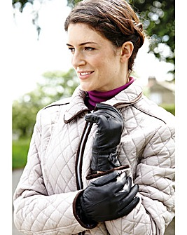 Ladies Black Leather Gloves
