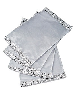 Set of4 Organza Placemats with Sequins