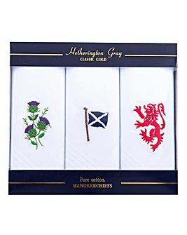 Scotland Handkerchiefs Set of 3