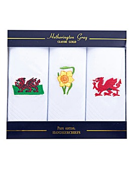 Wales Handkerchiefs Set of 3