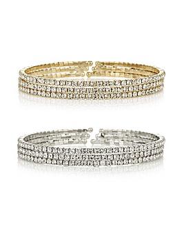 Mood Crystal Diamante Bracelet Set