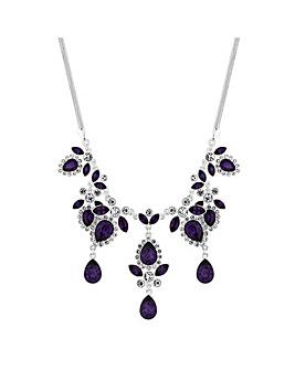 Mood Purple Peardrop Statement Necklace