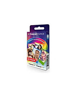 Polaroid Rainbow Border Paper 20 pack