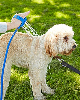 Pet Bathing Tool with Hose Connector