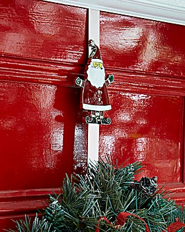 Over Door Wreath Hanger Santa
