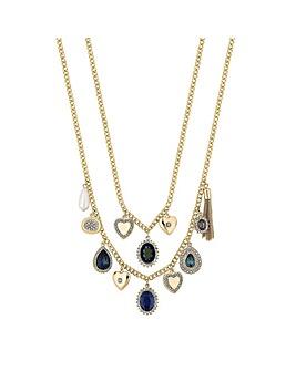 Mood Crystal Charm Multi Row Necklace