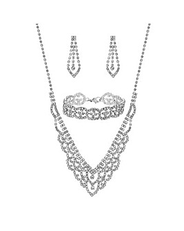 Mood Crystal Diamante Jewellery Set