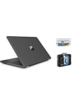 "HP 15"" Win10 4GB 1TB AMD Print Case Set"