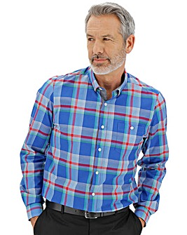 Blue Check Long Sleeve Shirt L