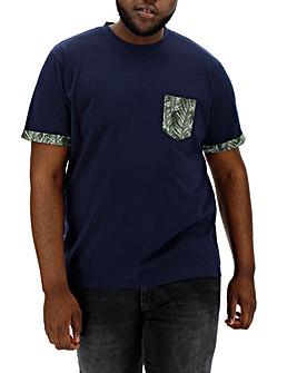 Floral Pocket Blue T-Shirt L
