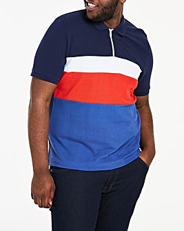 Navy Sports Panel Polo L