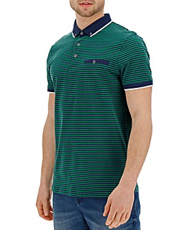 Trim Detail Green Stripe Polo R