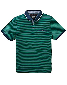 Trim Detail Green Stripe Polo L