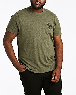 Embroidered Khaki T-Shirt Regular