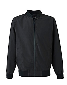 Black Bomber Jacket Long