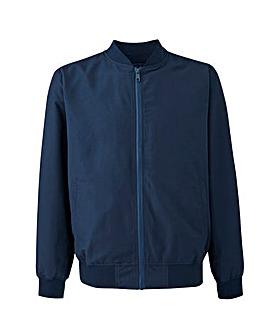 Navy Bomber Jacket Long