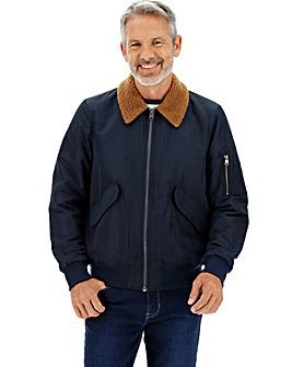 Navy Borg Collar Flight Jacket